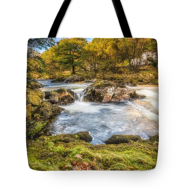 Cyfyng Falls Tote Bag by Adrian Evans