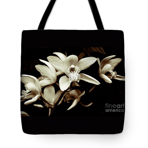 Cymbidium Orchids Tote Bag by Charlene Mitchell