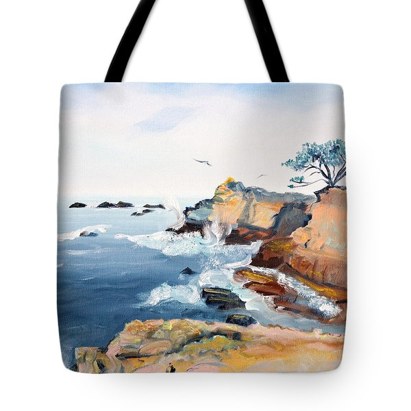 Cypress And Seagulls Tote Bag