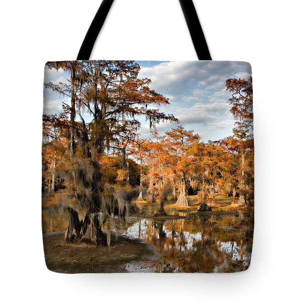 Tote Bag featuring the photograph Cypress Rust by Lana Trussell