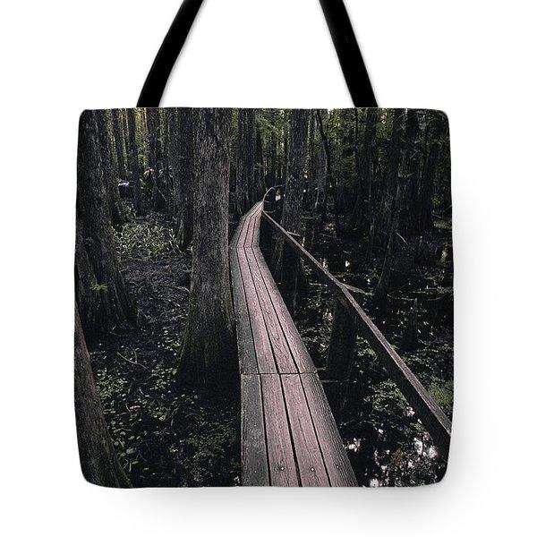 Cypress Swamp Trail Tote Bag by Ron Sanford