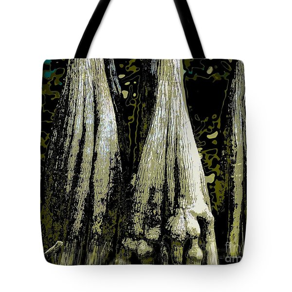 Tote Bag featuring the photograph Cypress Three by Sally Simon