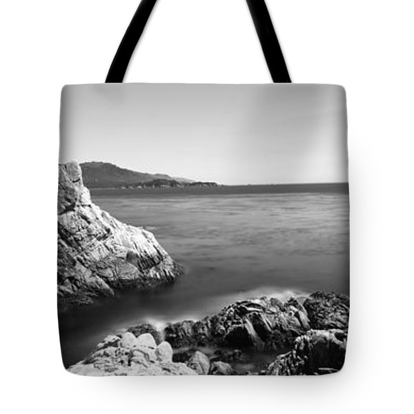 Cypress Tree At The Coast, The Lone Tote Bag by Panoramic Images