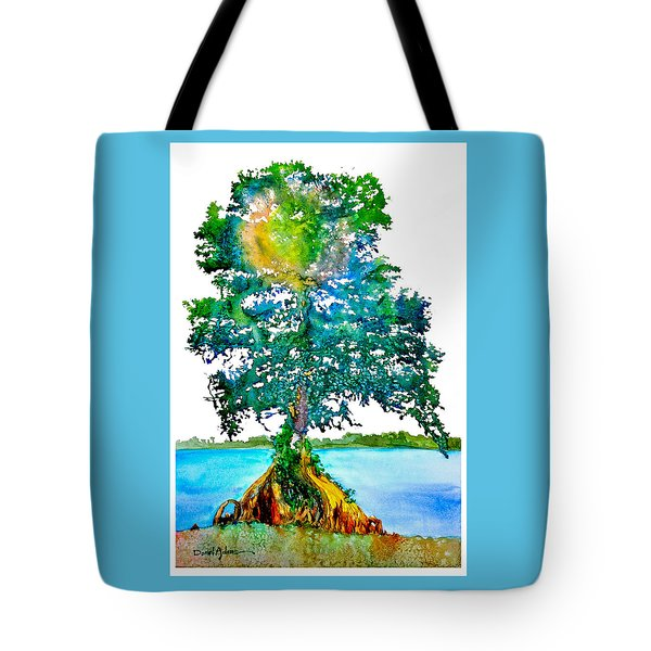 Da107 Cypress Tree Daniel Adams Tote Bag