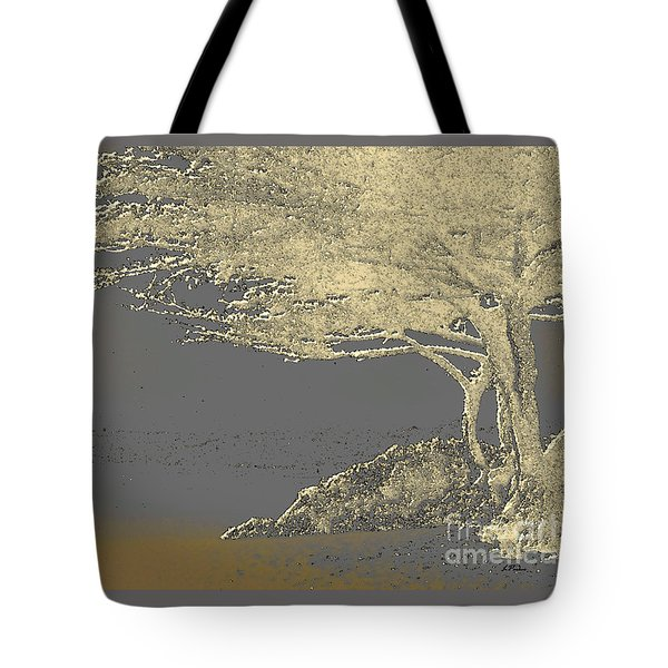 Cypress Tree On Beach Tote Bag by Linda  Parker