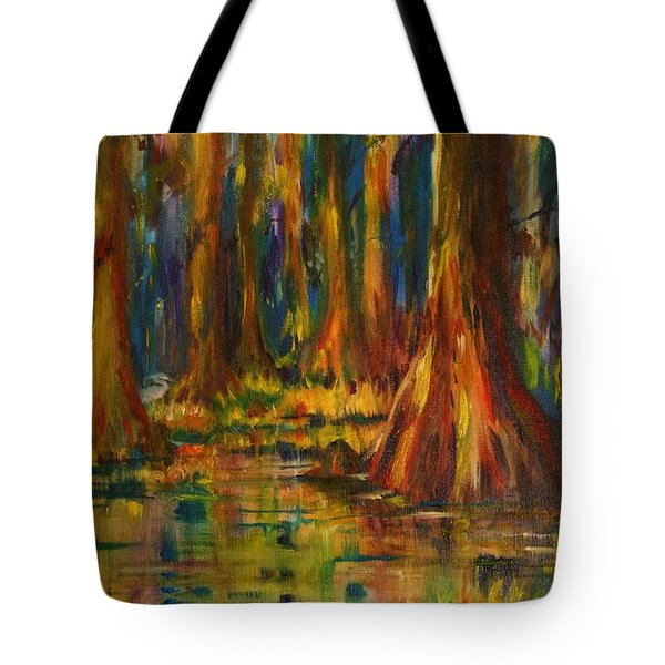 Cypress Trees Tote Bag