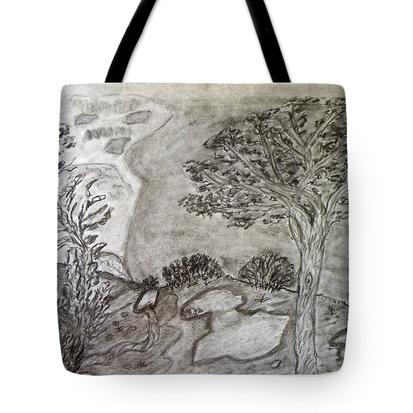Cypresses In Cyprus Tote Bag by Augusta Stylianou