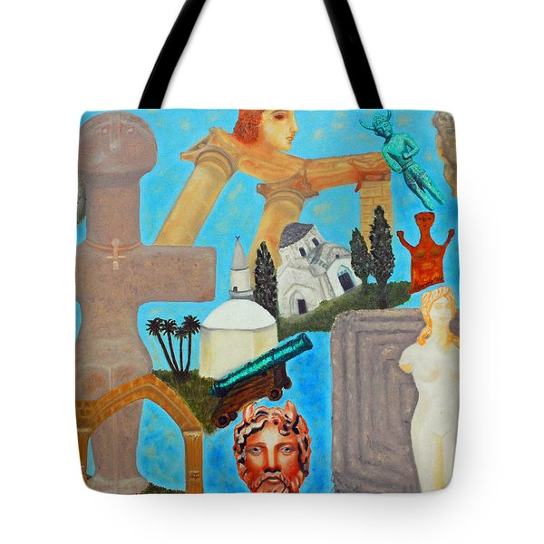 Cyprus History Tote Bag by Augusta Stylianou