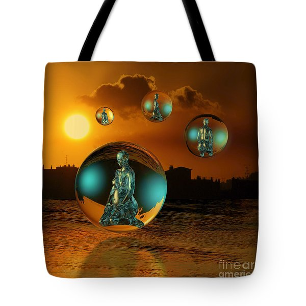 Tote Bag featuring the digital art Cyrstal Children Of Sun by Rosa Cobos