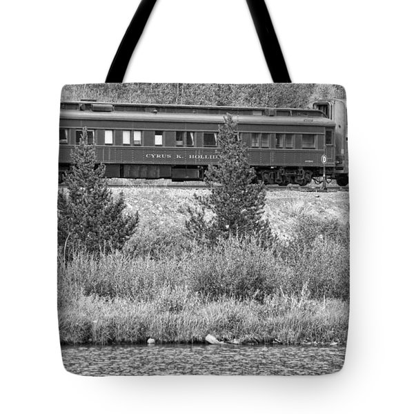 Cyrus K  Holliday Private Rail Car Bw Tote Bag by James BO  Insogna
