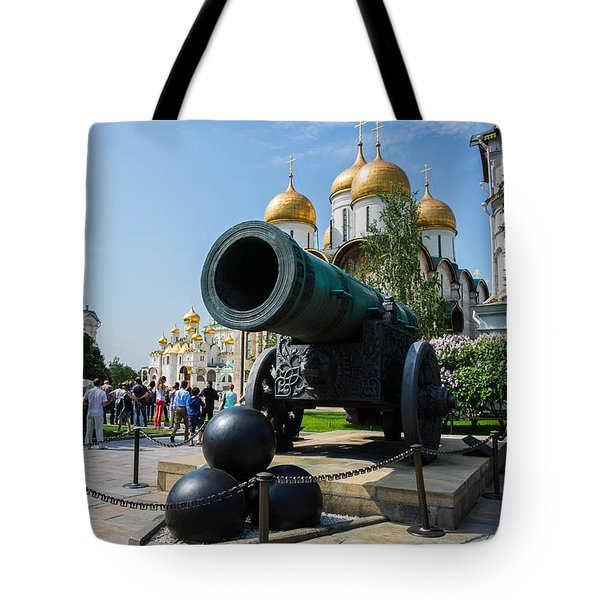 Czar Cannon Of Moscow Kremlin - Featured 3 Tote Bag by Alexander Senin