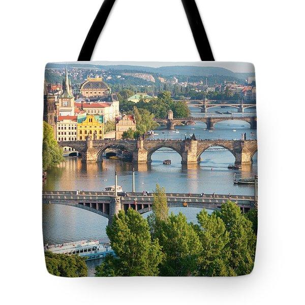 Czech Republic, Prague - Bridges Tote Bag