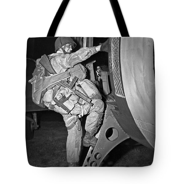 D-day Paratrooper Ready Tote Bag