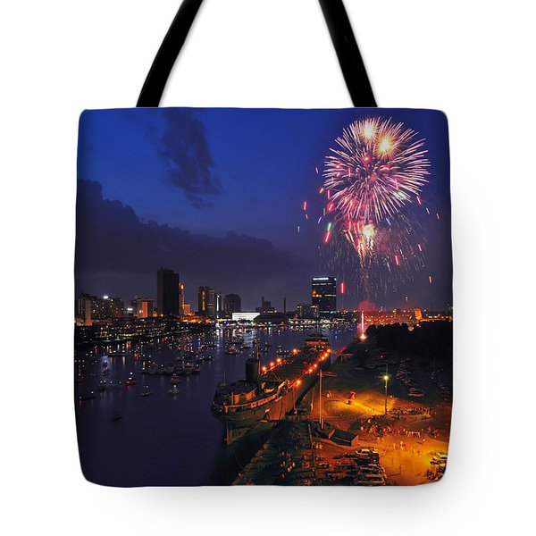 D12u470 Red White And Kaboom In Toledo Ohio Photo Tote Bag