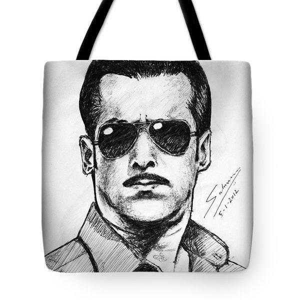 Salman Khan Tote Bag