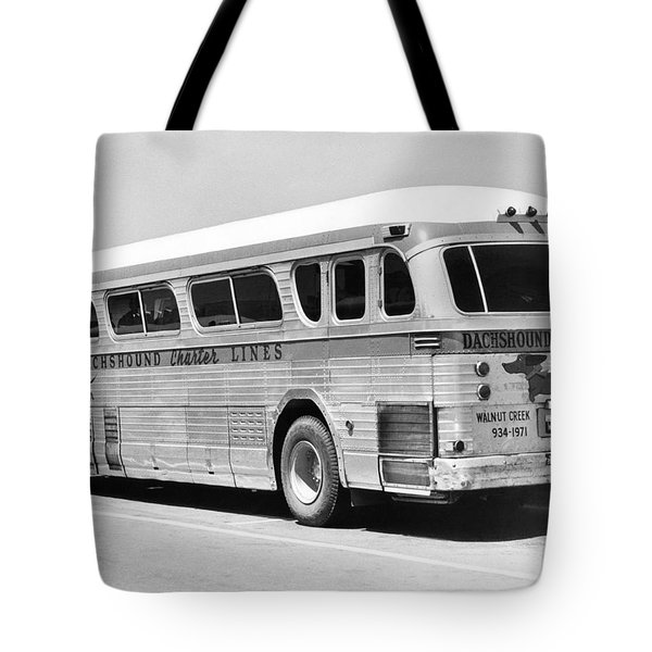 Dachshound Charter Bus Line Tote Bag