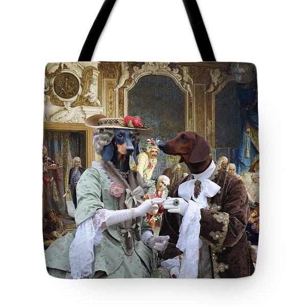 Dachshund Art - Royal Party Tote Bag