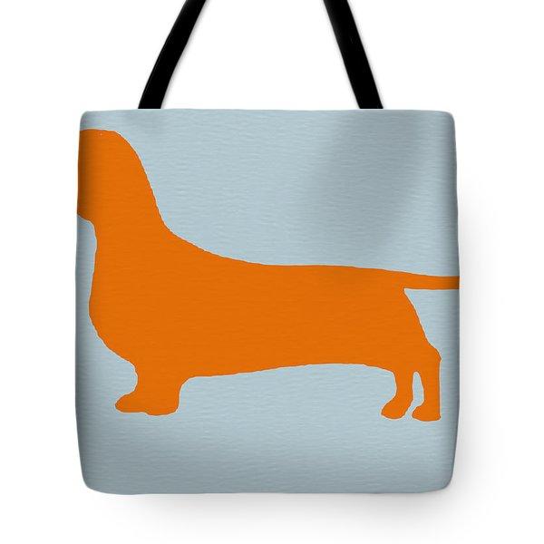 Dachshund Orange Tote Bag by Naxart Studio