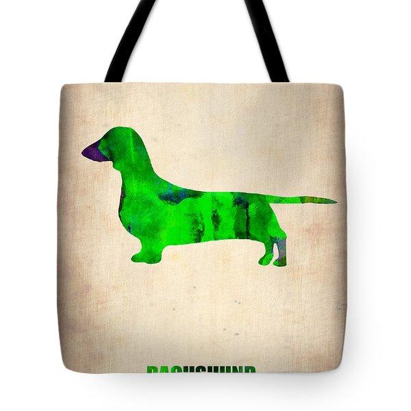 Dachshund Poster 1 Tote Bag by Naxart Studio