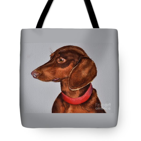 Dachshund Watercolor Painting Tote Bag
