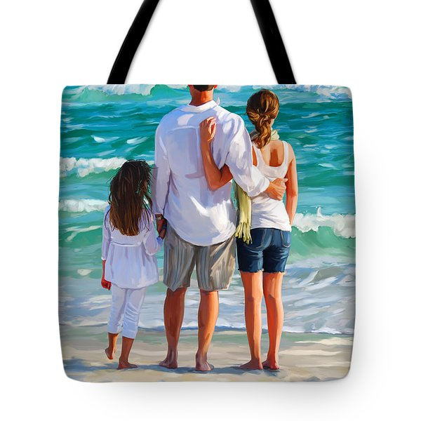 Dad And His Girls Tote Bag