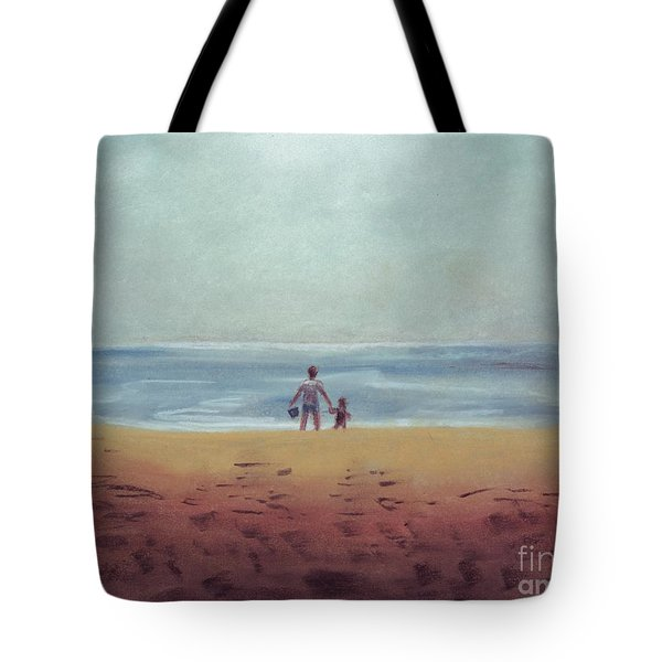 Daddy At The Beach Tote Bag by Samantha Geernaert