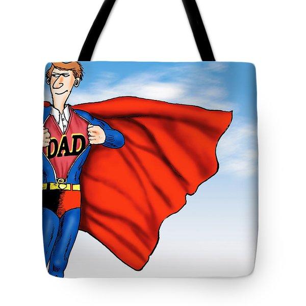 Daddys Home Superman Dad Tote Bag by Tony Rubino