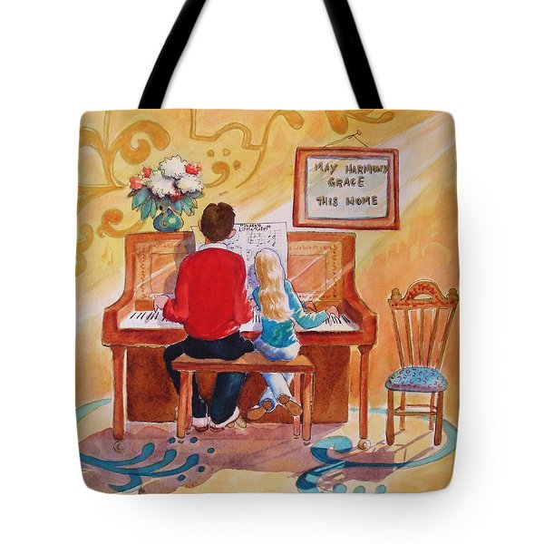 Daddy's Little Girl Tote Bag by Marilyn Jacobson