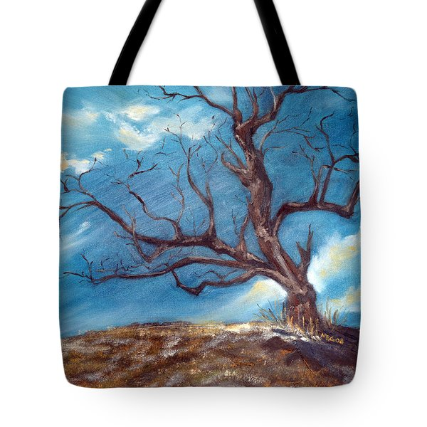 Tote Bag featuring the painting Daddy's Tree by Meaghan Troup