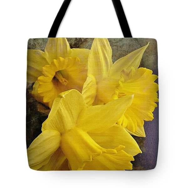 Tote Bag featuring the photograph Daffodil Burst by Diane Alexander