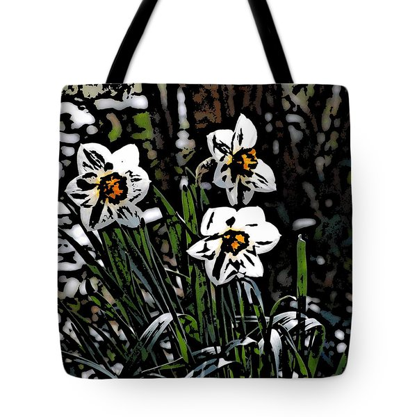 Tote Bag featuring the digital art Daffodil by David Lane