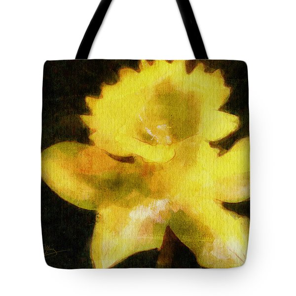 Tote Bag featuring the painting Daffodil by Greg Collins