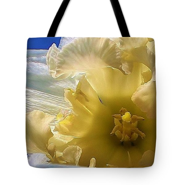 Tote Bag featuring the photograph Daffodil In The Sun by Bruce Bley