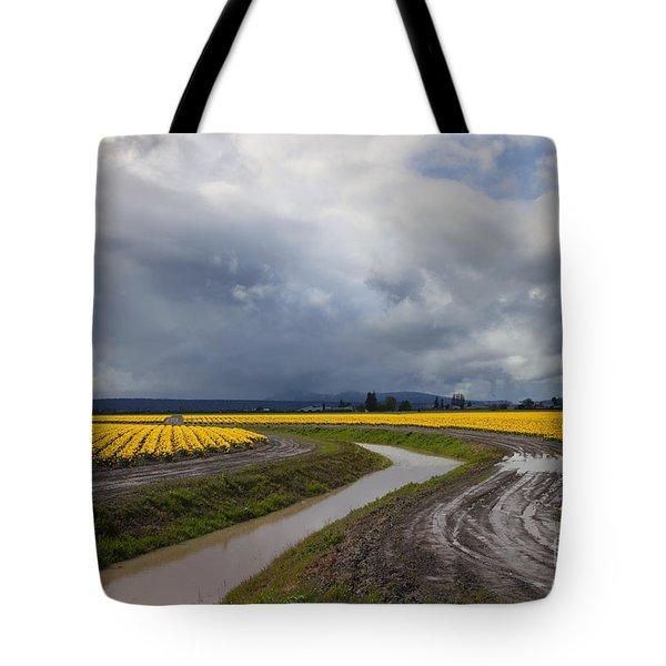 Daffodil Lane Tote Bag by Mike  Dawson