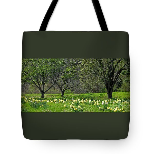 Tote Bag featuring the photograph Daffodil Meadow by Ann Horn