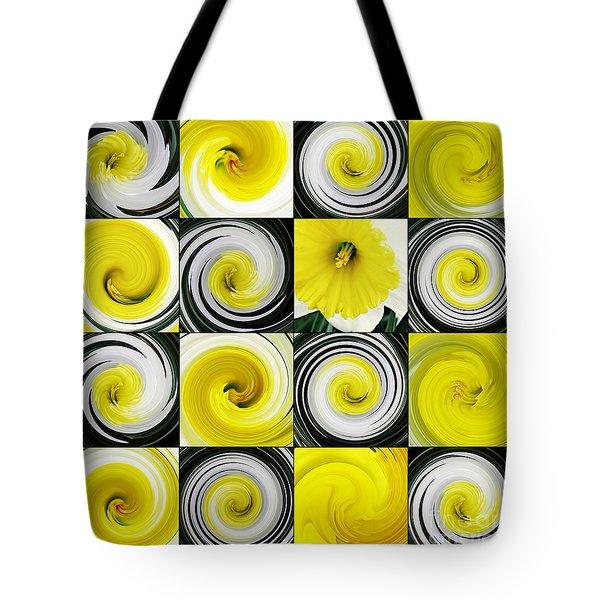 Daffodil Spring Mosaic Tote Bag