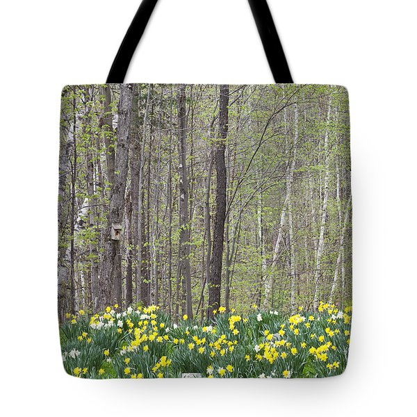 Daffodil Woods Tote Bag by Alan L Graham