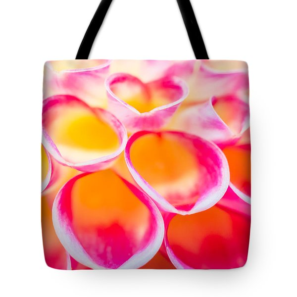 Dahlia Abstract Tote Bag