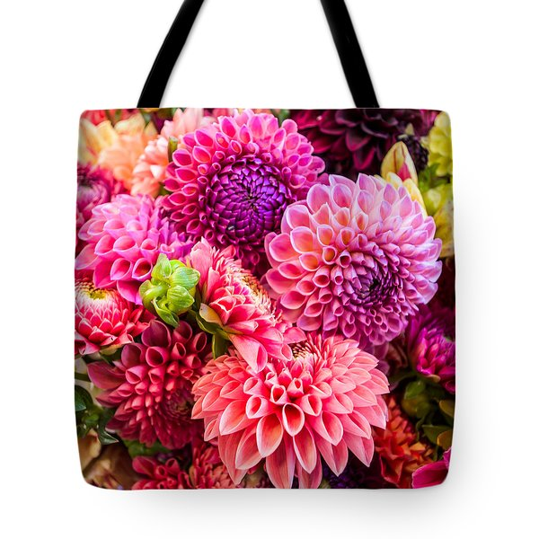 Dahlia Bouquet Number 2 Tote Bag