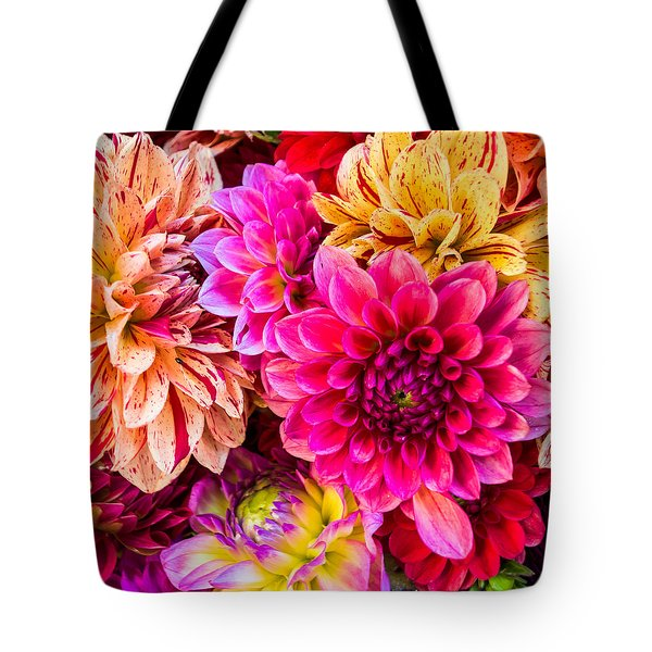 Dahlia Bouquet Number 3 Tote Bag