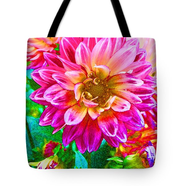 Dahlia Tote Bag by Eva Kaufman