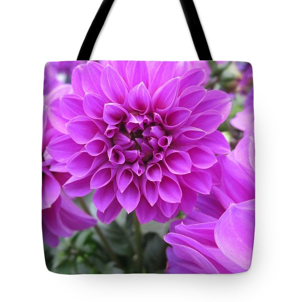 Dahlia In Pink Tote Bag