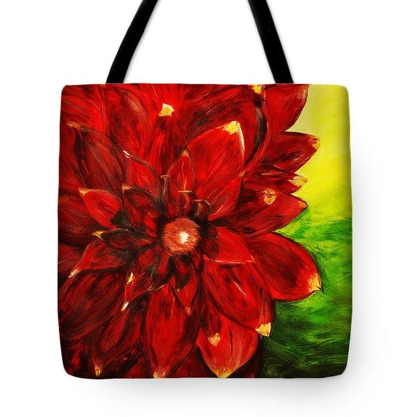 Amy's Dahlia  Tote Bag