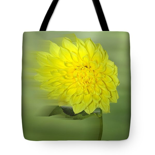 Dahlia In The Wind Tote Bag by Nina Bradica