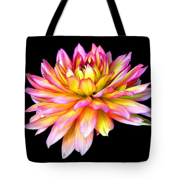 Tote Bag featuring the photograph Dahlia by Mariarosa Rockefeller