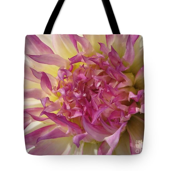 Tote Bag featuring the photograph Dahlia Named Angela Dodi by J McCombie