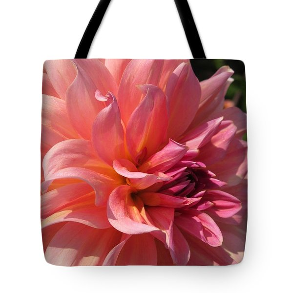 Tote Bag featuring the photograph Dahlia Named Fire Magic by J McCombie