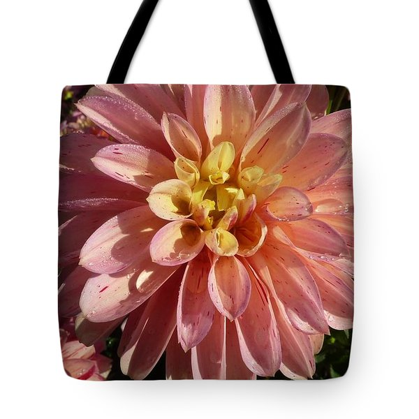 Tote Bag featuring the photograph Dahlia October by Susan Garren