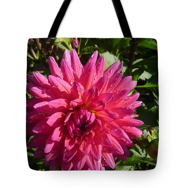 Tote Bag featuring the photograph Dahlia Pink by Susan Garren