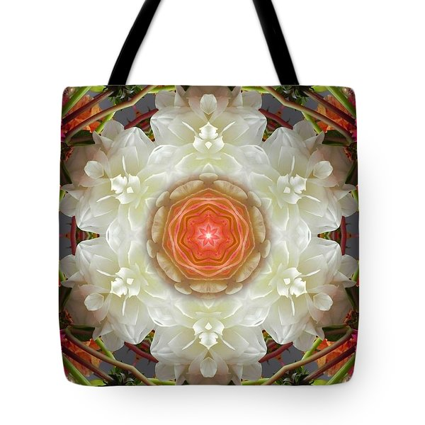 Dahlia Portal Mandala Tote Bag